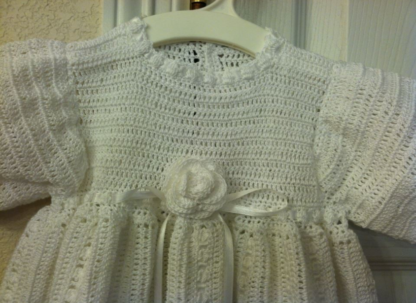 Detailed View Crochet Gown