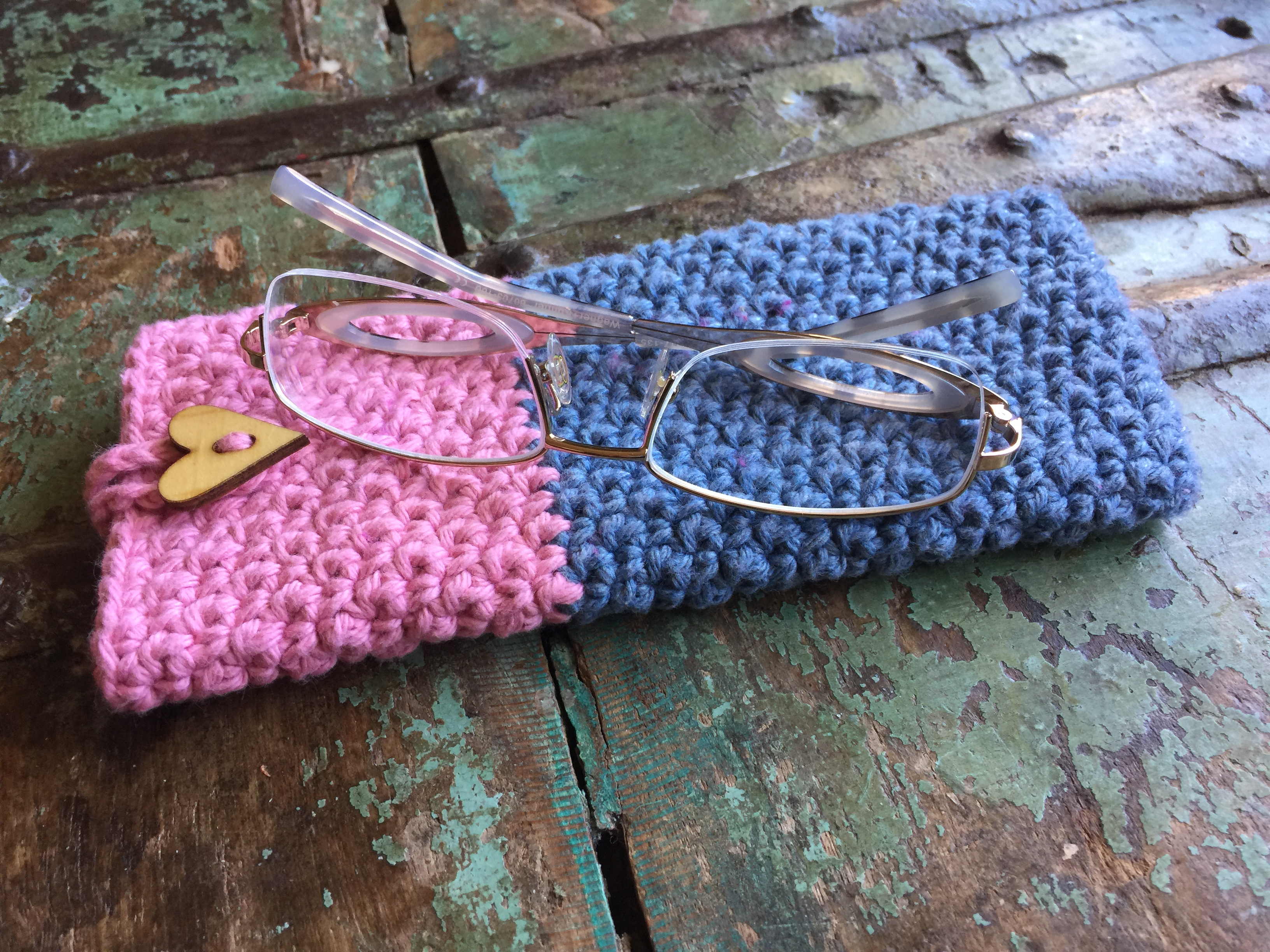 Pink & Blue Eyeglass Case