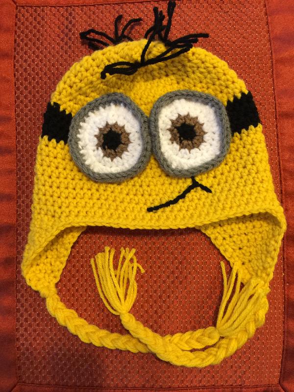 Yellow Minion Beanie with Earflaps
