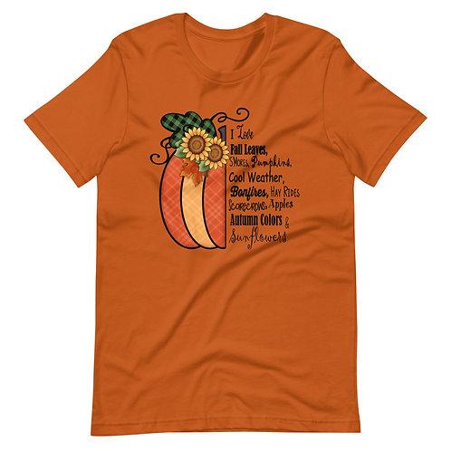 Pumpkin   Short-Sleeve Unisex T-Shirt
