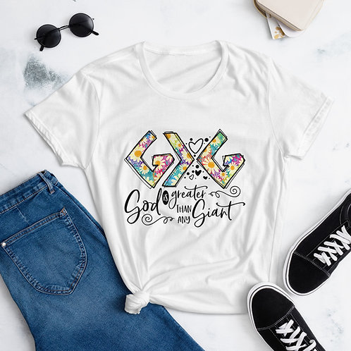 God is Greater Than Any Giant | Women's short sleeve t-shirt