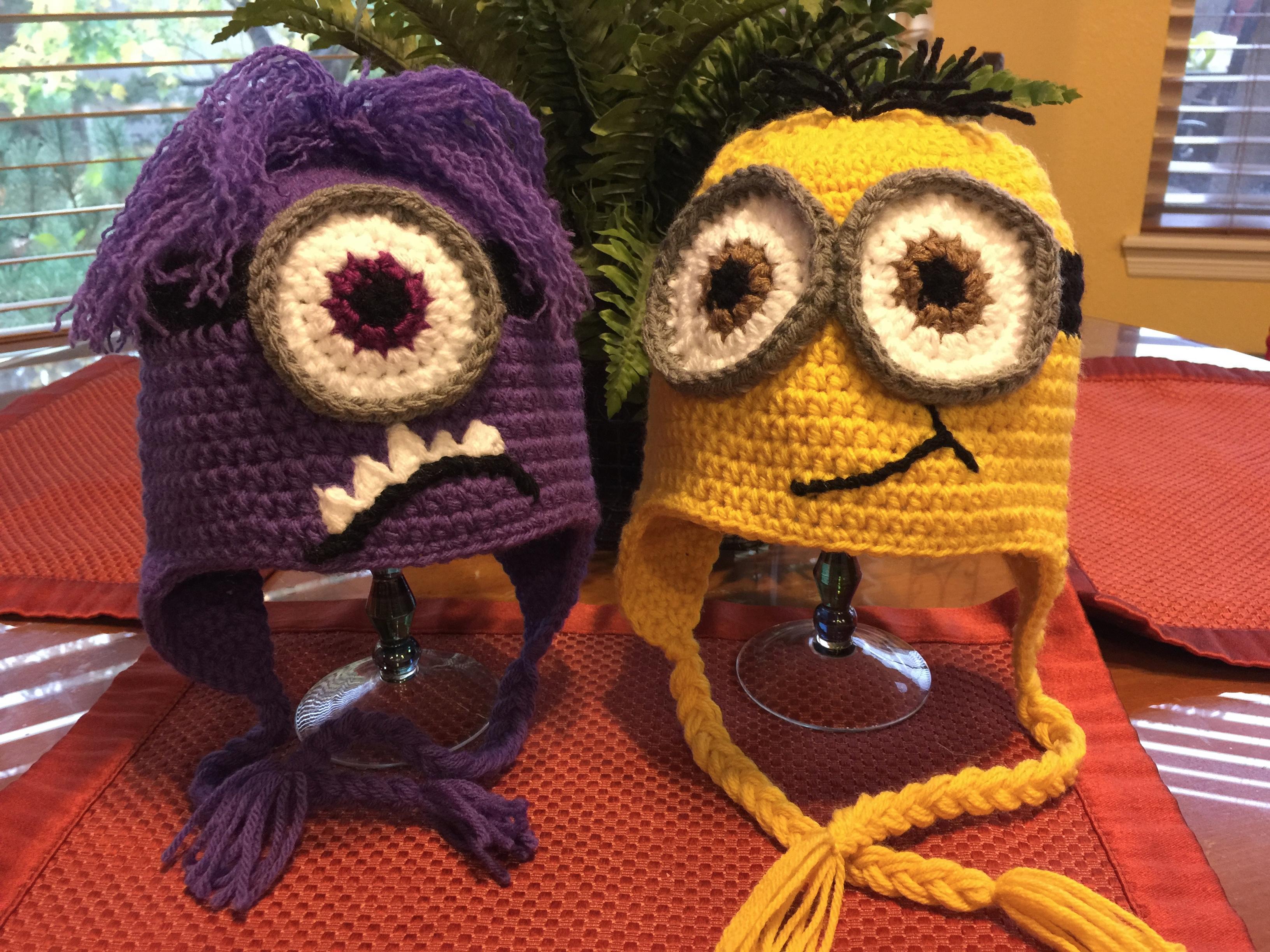 Minion Hats Purple/Yellow