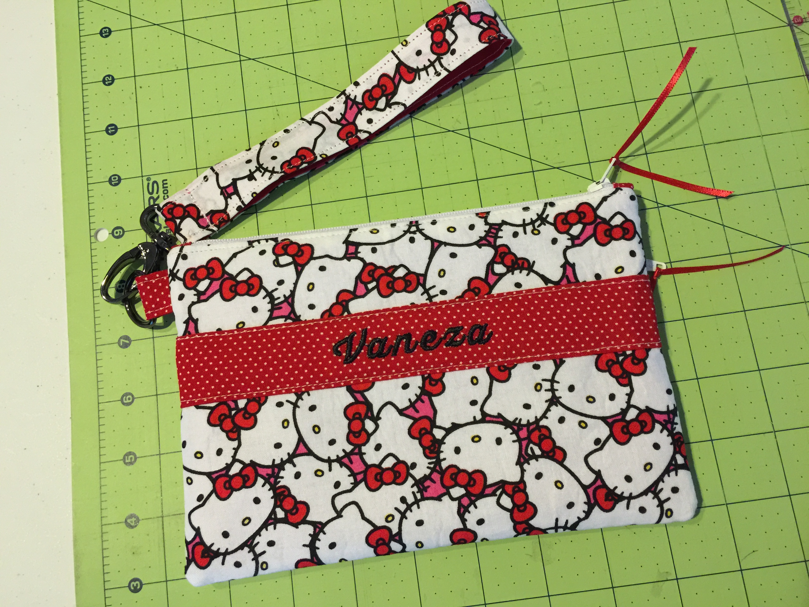 Red Hello Kitty Cell Phone Clutch
