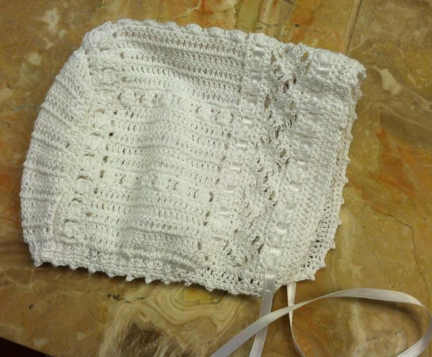 Matching Crochet Bonnet