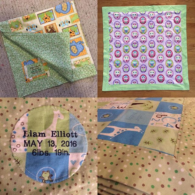 Custom Flannel Baby Blanket