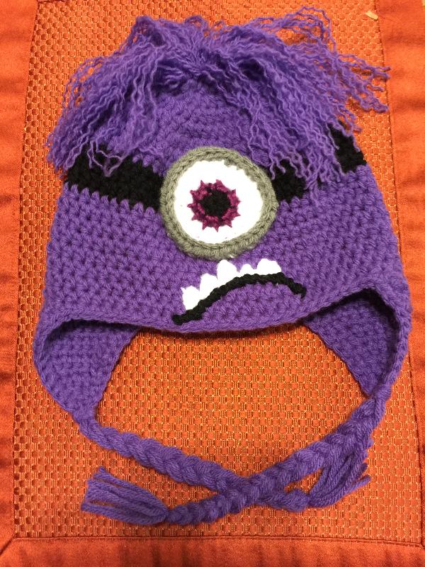 Purple Minion Beanie with Earflaps