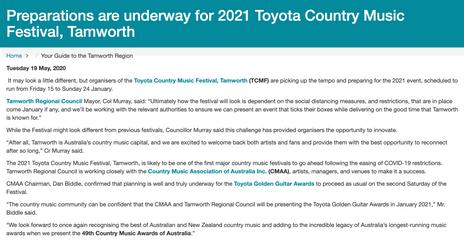 Destination Tamworth 2020
