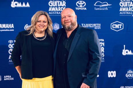 2021 Golden Guitar Awards with my wife, Kate