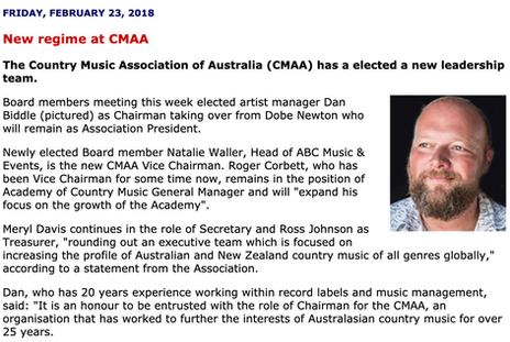 Country Music Bulletin 2018