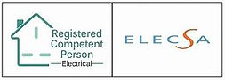 Endorsement logo for ELECSA, showing She Sparks isa Registered Competent Person.