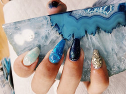 Gel Overlay with Nail Art