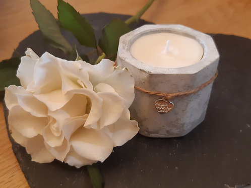 Handmade Grey Concrete Scented Candle - made to order.