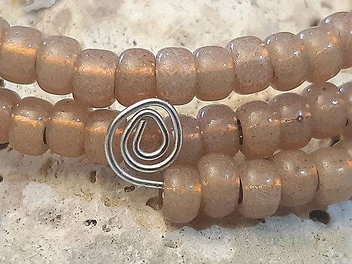 Rose seed bead memory bracelet