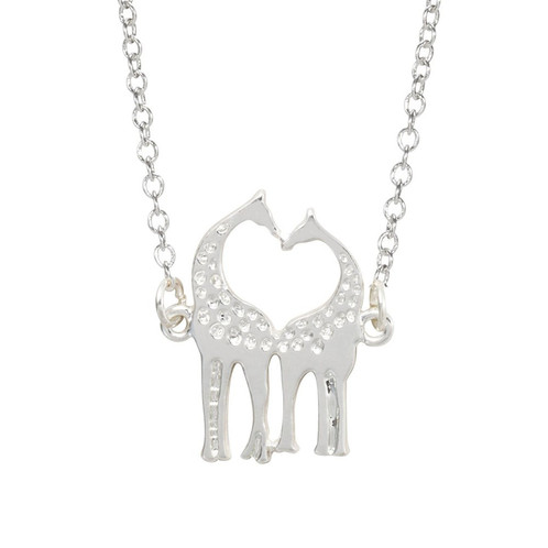 Loving giraffes pendant necklace mamatuckshop artisanal giraffe which has a long neck is visionary and able to be more big picture as it is able to see the future and obtain things that would normally be out of aloadofball Choice Image