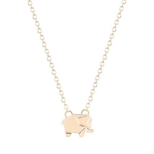 Origami elephant pendant necklace mamatuckshop artisanal origami elephant pendant necklace s1590 s 1100 aloadofball Choice Image
