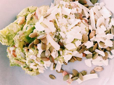 Smashed guacamole