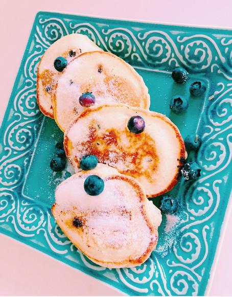 Saturday blueberry pancakes