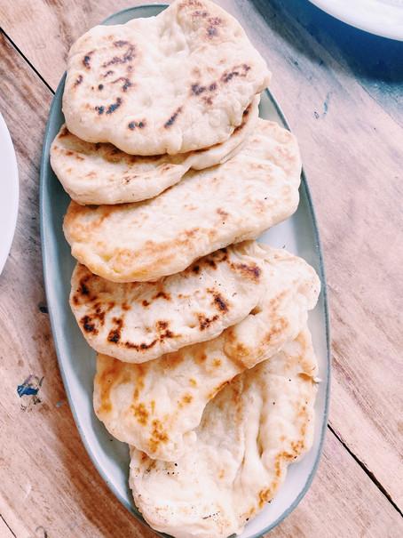 Coconut naan bread