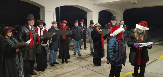 2020 Choir Christmas Caroling 1