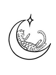 Cat Moon by GK