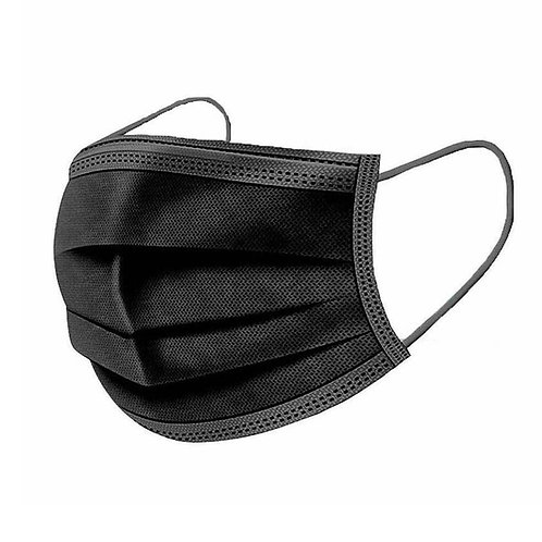 DISPOSABLE FACE MASK - 3 PLY - BLACK