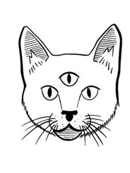 Three-Eyed Cat by Eme