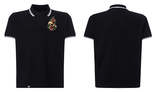 GK - Skull Embroidered Deluxe Polo
