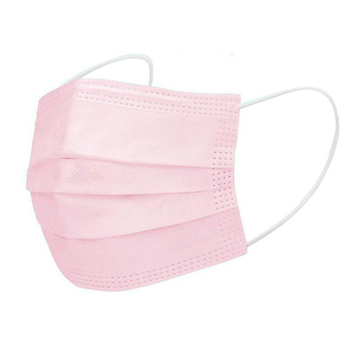 DISPOSABLE FACE MASK - 3 PLY - PINK