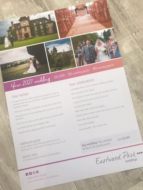 Eastwood Park Wedding Flyer