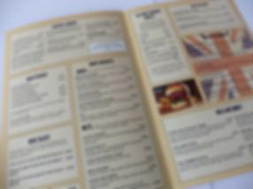 A4 folde Menu Printing