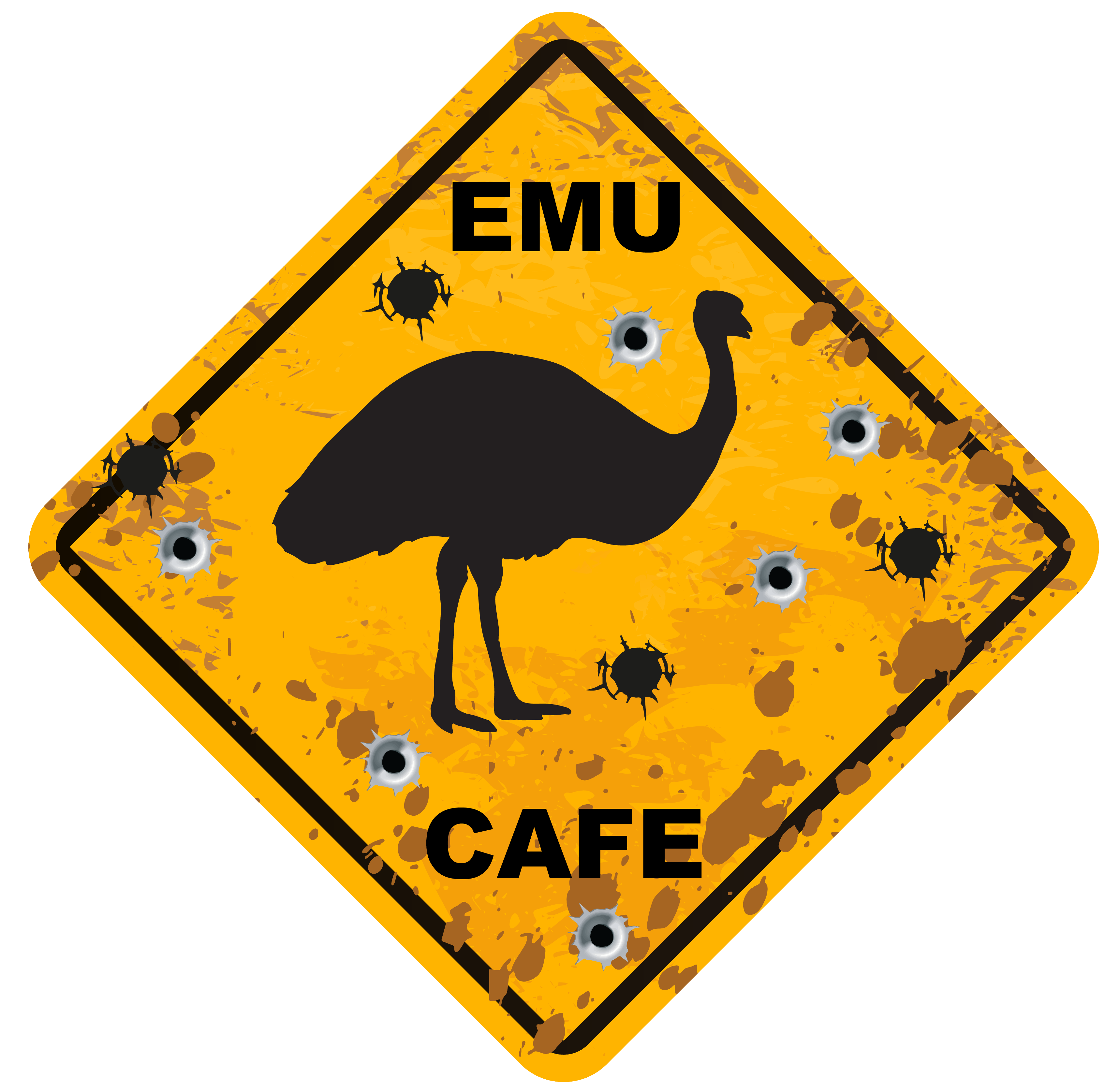 EMU Cafe Logo Design