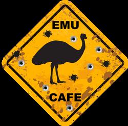 EMU Cafe Logo Design