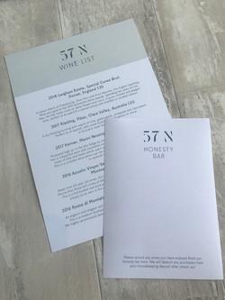 57N Wine List & A6 Pad