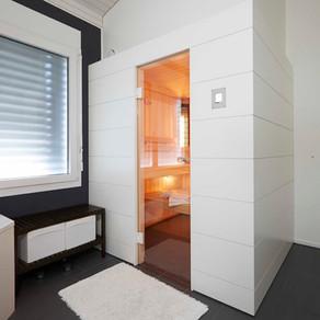 Sauna mit individuellem Design