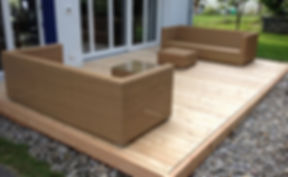 Sitzplatz, Terrassenrost, Holz