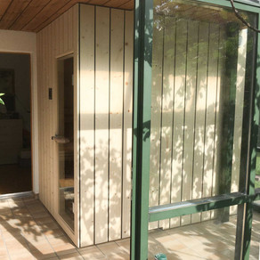 Sauna in Wintergarten