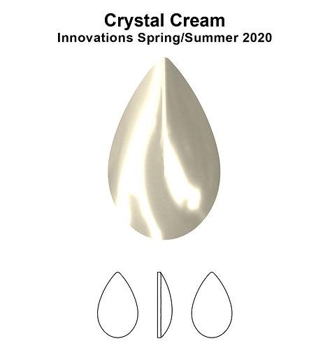 Timantit Cabochon Drop Cream 8x5mm
