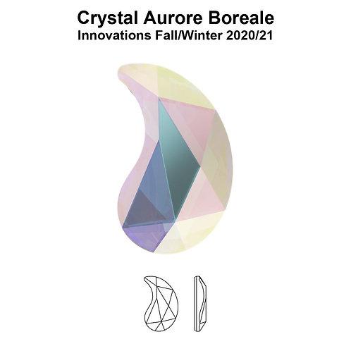 Timantit Paisley Crystal AB Y 6x3,7mm