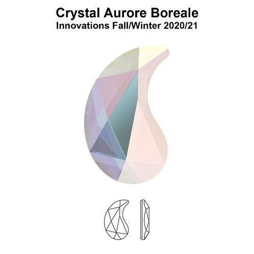 Timantit Paisley Crystal AB X 6x3,7mm