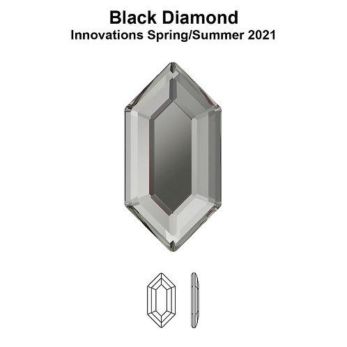Timantit Elongated Hexagon Black Diamond 8,2x4,2mm