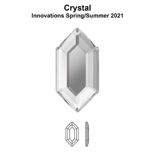 Timantit Elongated Hexagon Crystal 8,2x4,2mm