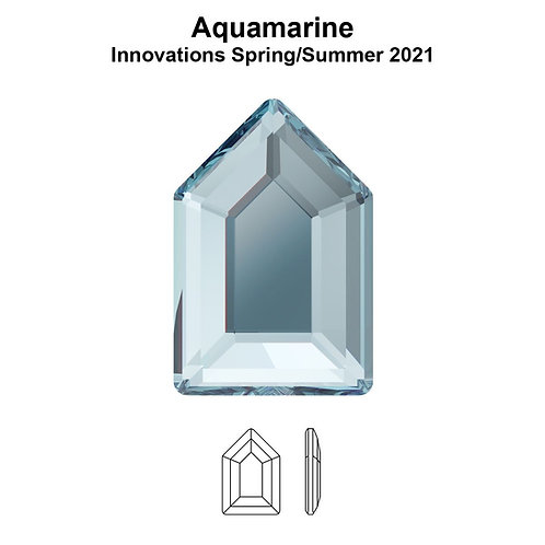 Timantit Elongated Pentagon Aquamarine 6,3x4,2mm