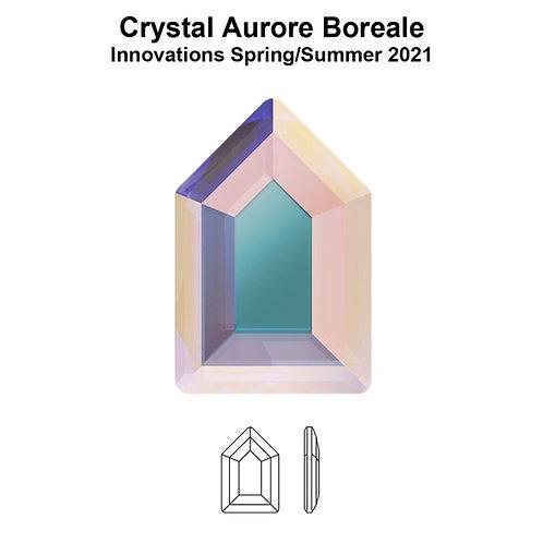 Timantit Elongated Pentagon Crystal AB 6,3x4,2mm