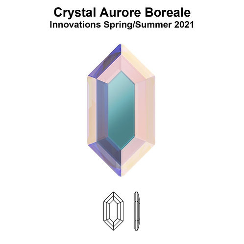 Timantit Elongated Hexagon Crystal AB 8,2x4,2mm