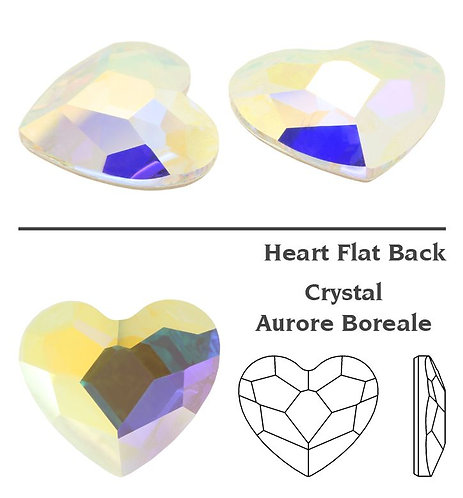 Timantit Heart Crystal AB 6mm