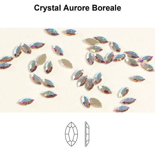 Timantit SW Navette Crystal AB (4x2mm)
