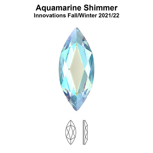 Timantit Marquise Aquamarine Shimmer 8x3,5mm