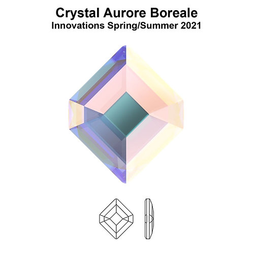 Timantit Concise Hexagon Crystal AB 6,7x5,6mm