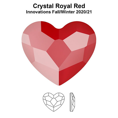 Timantit SW Heart Royal Red (3.6mm)