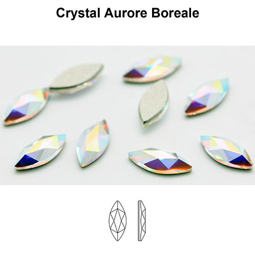 Timantit Marquise Crystal AB 8x3,5mm